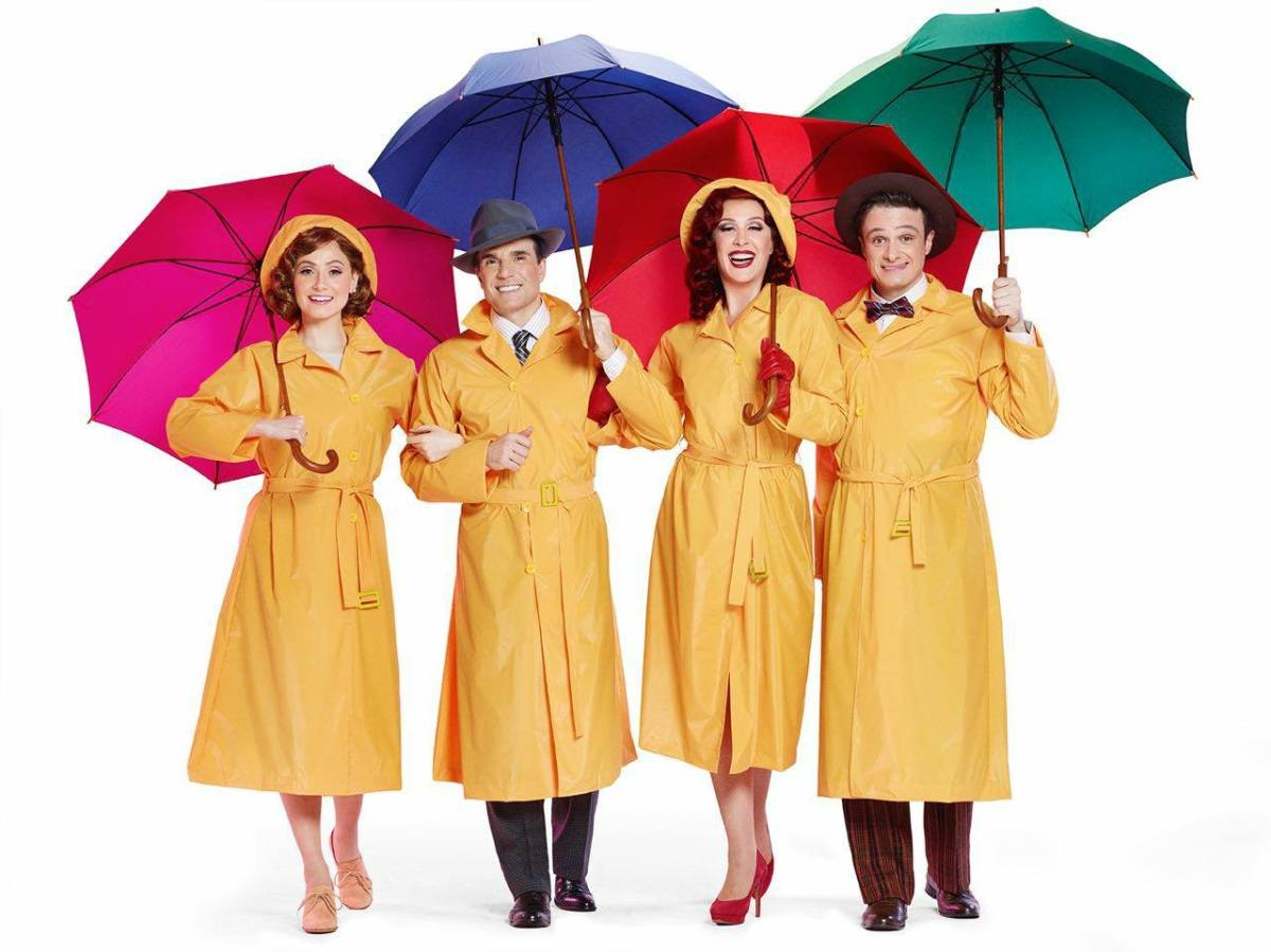 """Veja Bruna Guerin, Jarbas Homem de Mello, Claudia Raia e Reiner Tenente em primeira foto de """"Cantando na Chuva"""""""