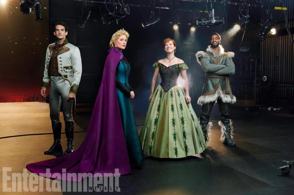 """Veja a primeira imagem dos protagonistas de """"Frozen"""" caracterizados e imagens dos bastidores"""