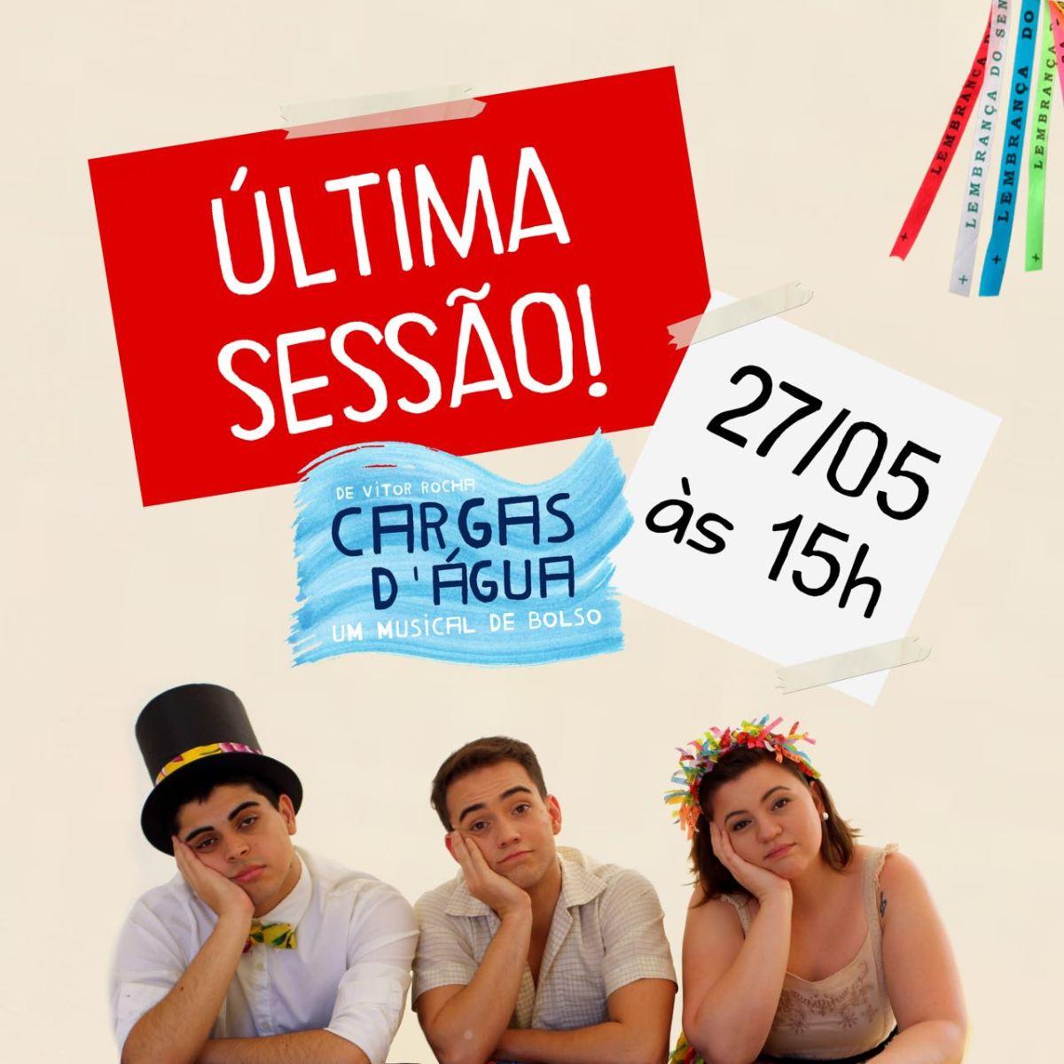 """BASTIDORES #20: Ana Paula Villar, André Torquato e Vitor Rocha em """"Cargas D'Água"""""""